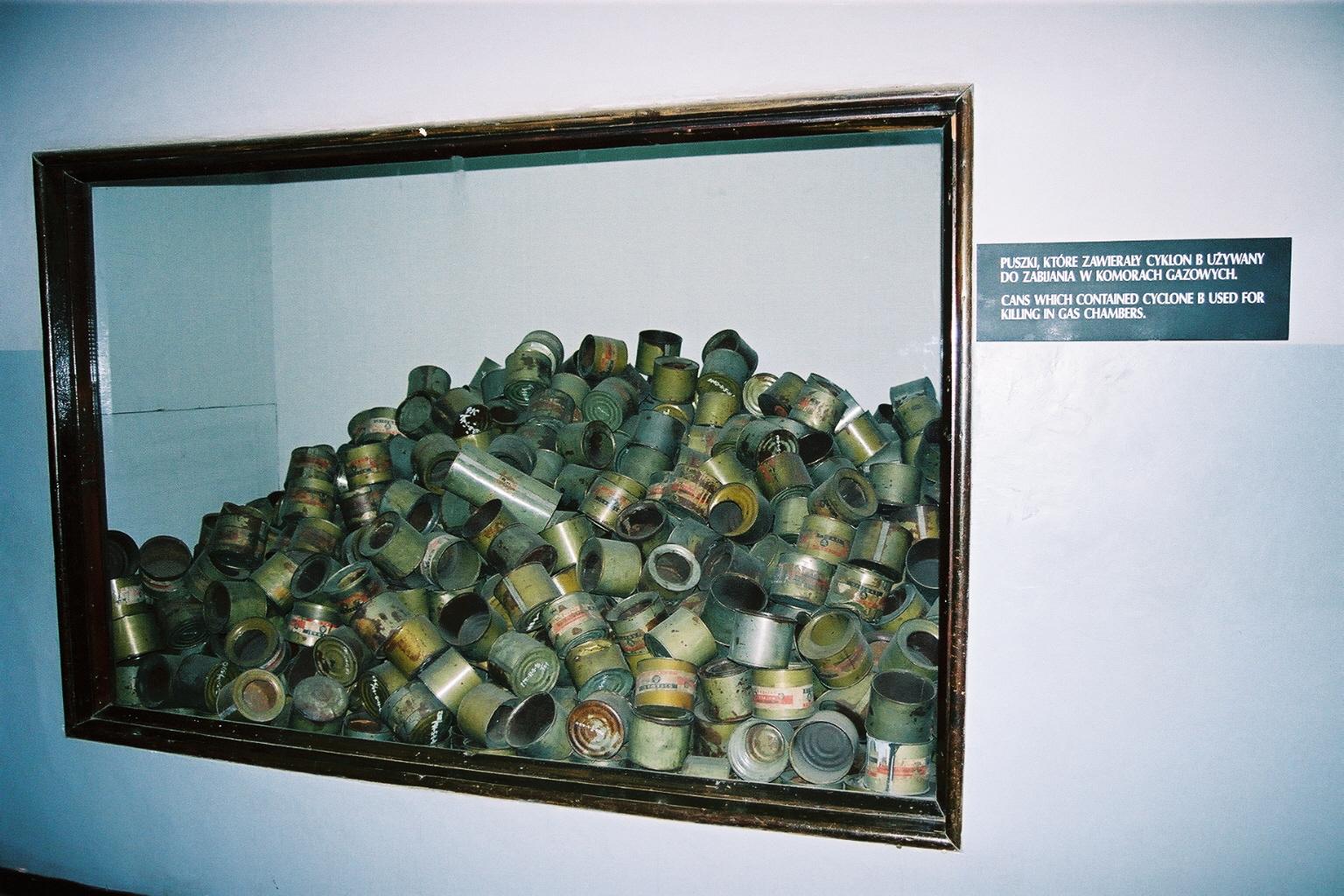 Auschwitz 1, salle cyclon B