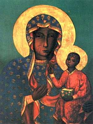 Tableau de l'icone de la Vierge Noire