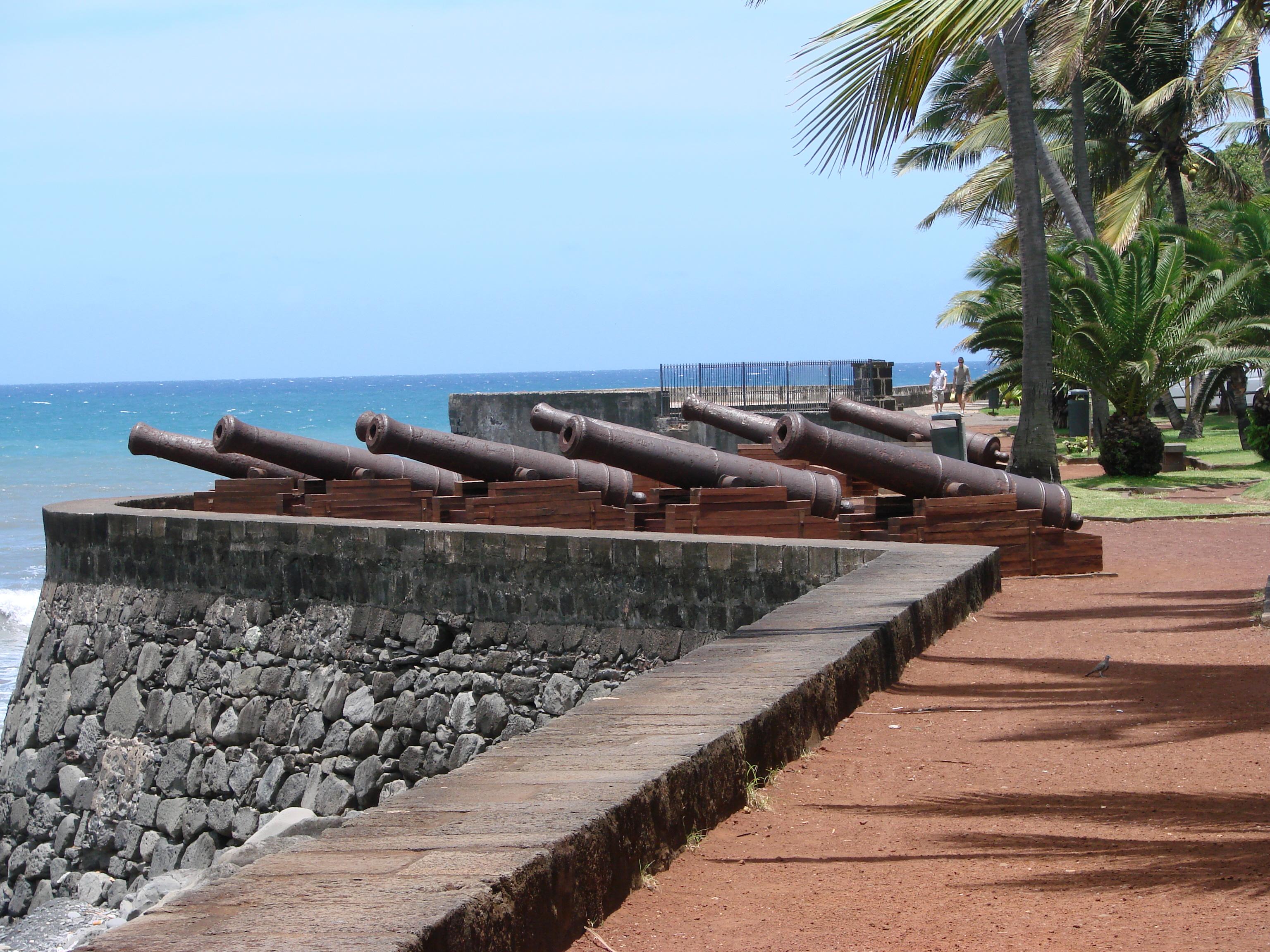 Ile de La Réunion, canons du Barachois