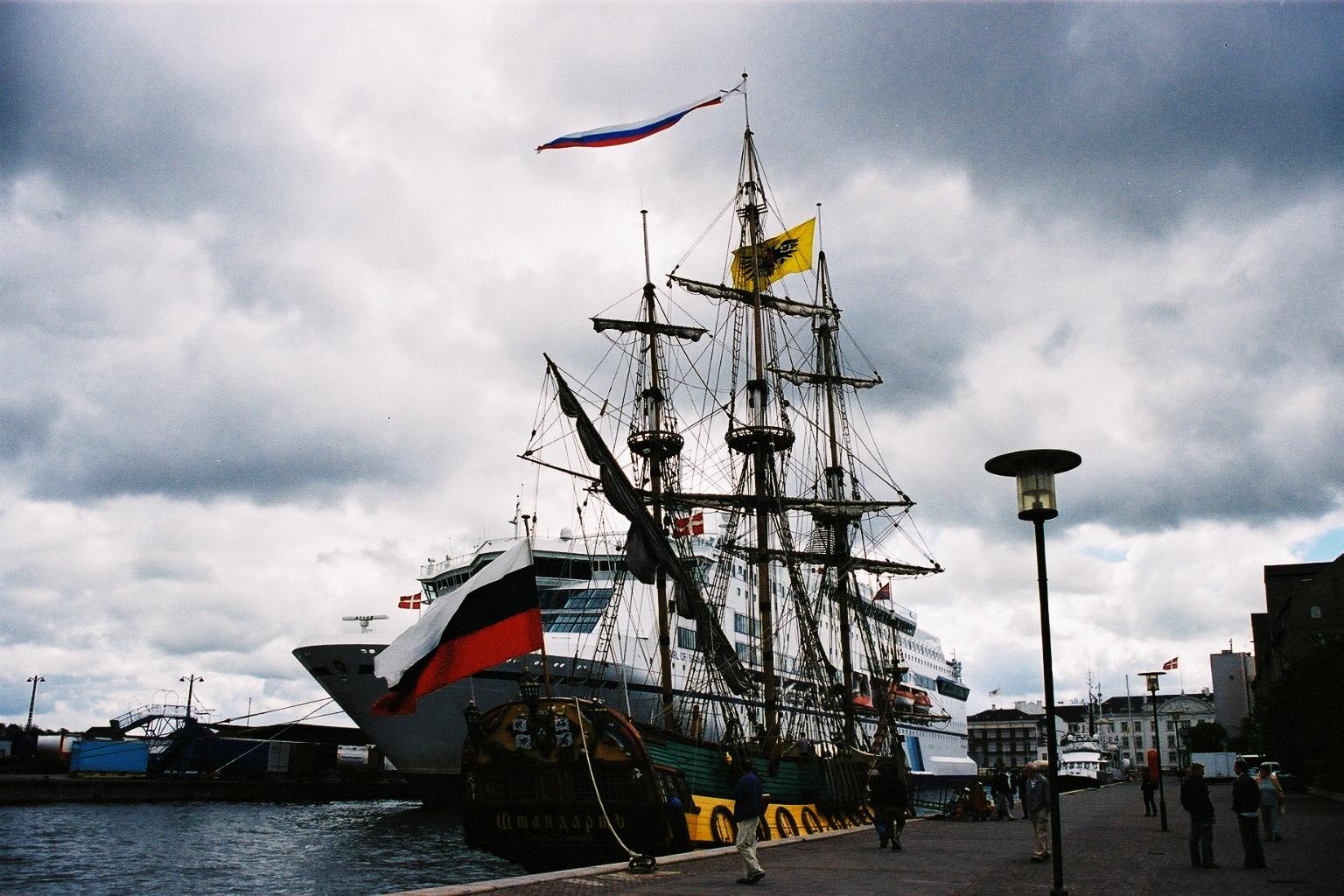 Danemark, Port de Copenhague, navires