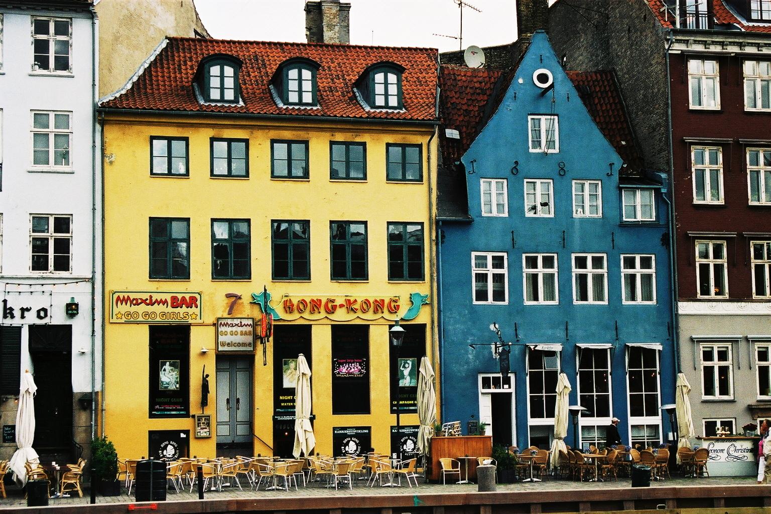 Danemark, Copenhaugue, quartier de Nyvhavn