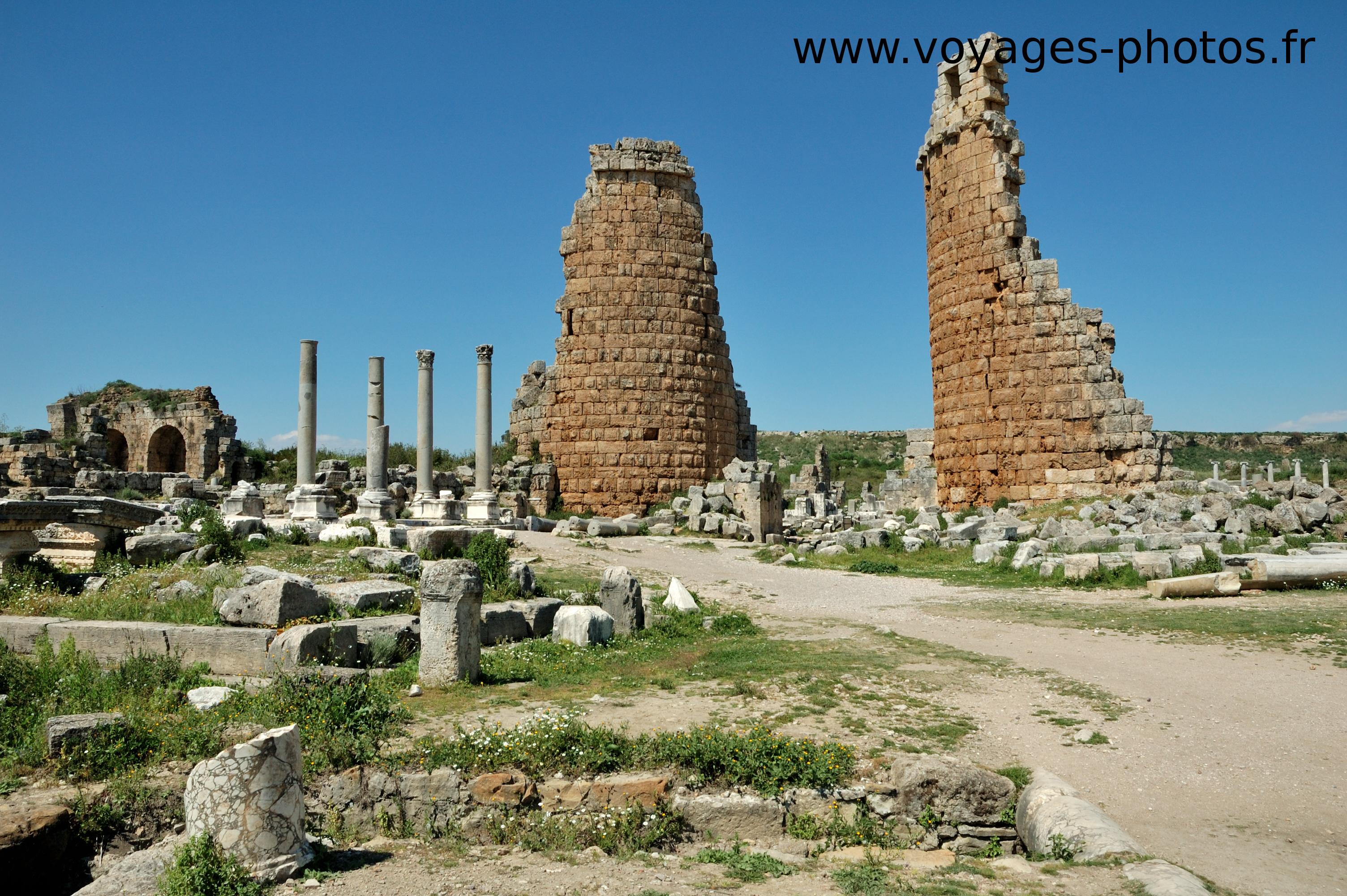 Turquie, ruines de Pergé